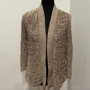 Chico Open Knit Gold/Tan open faced Cardigan